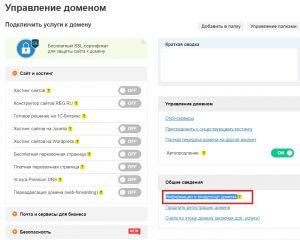 """жмете """"Информация о владельце домена"""""""